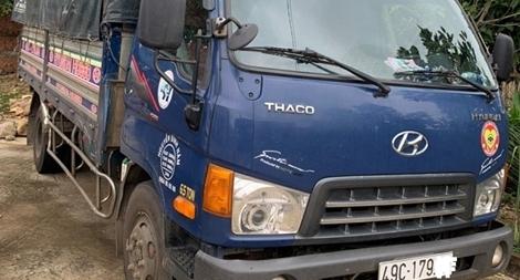 Phát hiện tài xế lái xe tải trong lúc phê ma túy