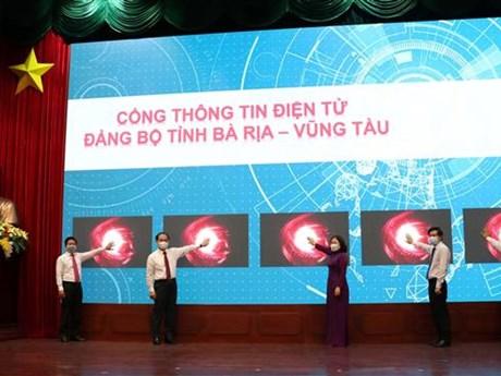 Khai trương Cổng thông tin điện tử Đảng bộ tỉnh Bà Rịa-Vũng Tàu