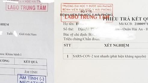 Bệnh viện Đại học Y Hải Phòng thông tin về phiếu xét nghiệm Covid-19 giả