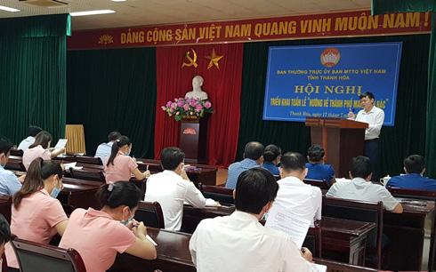 Thanh Hoá: Triển khai Tuần lễ 'Hướng về thành phố mang tên Bác'