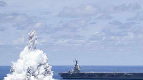 Mỹ lại dùng thuốc nổ thử siêu tàu sân bay thế hệ mới nhất