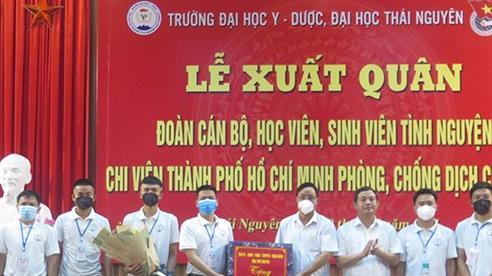 Hơn 300 thầy giáo, học viên Đại học Y - Dược Thái Nguyên tình nguyện vào TP Hồ Chí Minh chống dịch