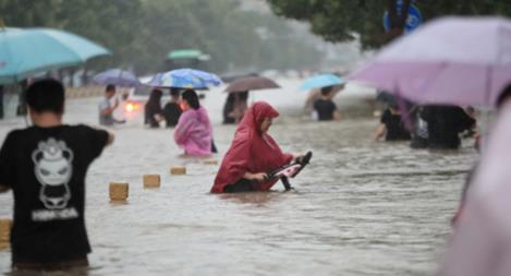 Mưa lũ nghiêm trọng ở Trung Quốc, nhiều nơi chìm trong biển nước
