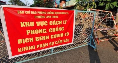 Phong tỏa thêm 4 khu phố ở TP Thủ Đức