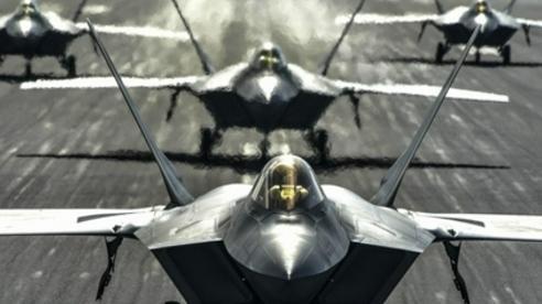 Lượng lớn chưa từng có 'Chim ăn thịt' F-22 tập kết ở Guam để làm gì?