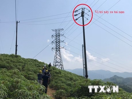 Một công nhân tử vong do bất cẩn khi thi công nâng cấp lưới điện 110kV