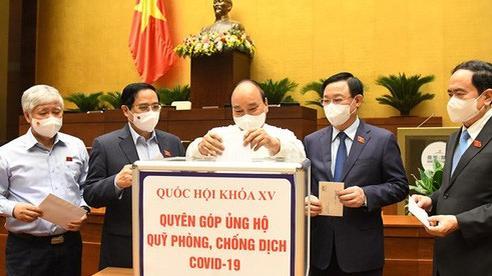 Lãnh đạo Đảng, Nhà nước và ĐBQH ủng hộ Quỹ phòng, chống COVID-19