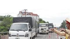 CSGT TP Hà Nội phân luồng từ xa với phương tiện không đi vào thành phố