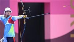 Ánh Nguyệt thua đáng tiếc cung thủ Nhật Bản ở loạt 'mũi tên vàng'