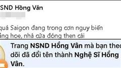 Fanpage gỡ danh hiệu NSND, Hồng Vân bị tước danh hiệu sau hàng loạt điều tiếng?