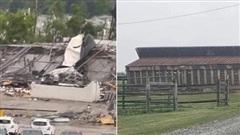 Lốc xoáy dữ dội hiếm gặp tràn qua miền Đông Pennsylvania, ít nhất 5 người bị thương