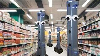 Robot giám sát vệ sinh phòng dịch tại siêu thị