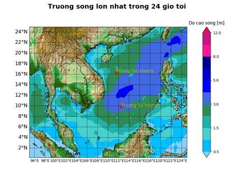 Cảnh báo hiện tượng gió mạnh, sóng lớn và mưa dông trên biển