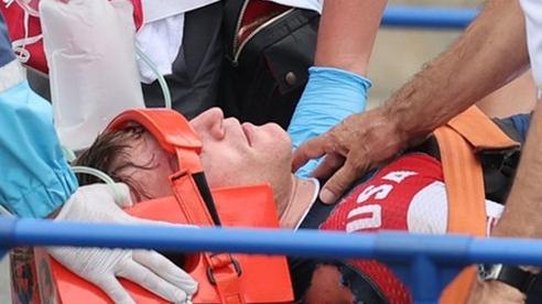 Nhà vô địch Olympic 2016 bị xuất huyết não sau va chạm kinh hoàng