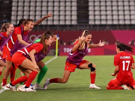 Đánh bại Mỹ, tuyển Canada lần đầu vào chung kết bóng đá nữ Olympic