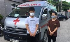 Thuê xe cứu thương chở từ Nghệ An ra Hà Nội nhằm qua mặt các chốt kiểm soát