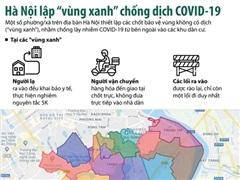 Những 'vùng xanh' đầu tiên trên bản đồ COVID-19 tại Hà Nội