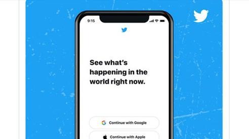 Twitter đã cho phép đăng nhập bằng tài khoản Google và Apple ID