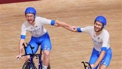 Italia lập kỷ lục thế giới đua xe đạp lòng chảo đồng đội nam