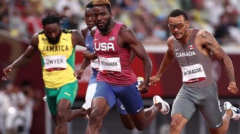 Andre De Grasse giành Huy chương vàng chạy 200m nam