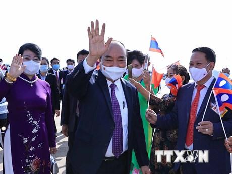 Phu nhân Chủ tịch nước tiếp đại diện Trường Song ngữ Lào-VN Nguyễn Du
