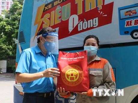 Hà Nội tiếp tục nhân rộng mô hình 'Siêu thị 0 đồng' cho người lao động