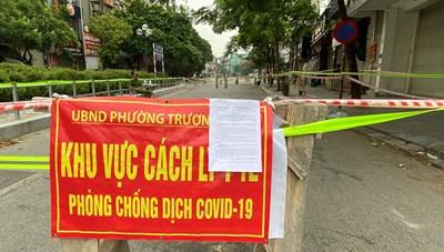 [ẢNH] Cận cảnh khu vực tạm thời cách ly y tế tại phố Trần Đại Nghĩa
