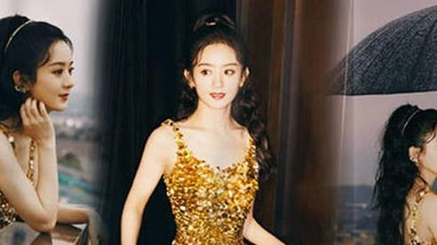 Mãn nhãn với ảnh hậu trường của Triệu Lệ Dĩnh, xinh đẹp như công chúa dù đã qua sinh nở