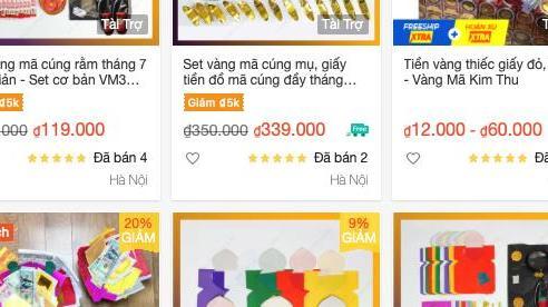 Cúng Rằm tháng 7 mùa dịch: Sắm đồ vàng mã 'online'