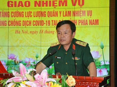 Tiếp tục tăng cường lực lượng quân y hỗ trợ các tỉnh phía Nam
