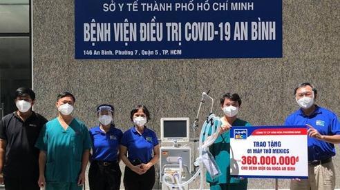 Nhà Sách Phương Nam trao tặng máy thở cao cấp và trang thiết bị phòng hộ cho bệnh viện An Bình và Trưng Vương