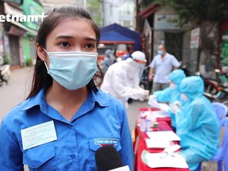 Dấu ấn của màu xanh tình nguyện: Hỗ trợ tiêm chủng - Truy tìm F0