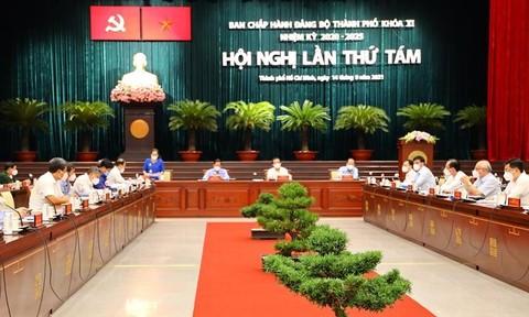 Khai mạc Hội nghị lần thứ 8 Ban chấp hành Đảng bộ TPHCM