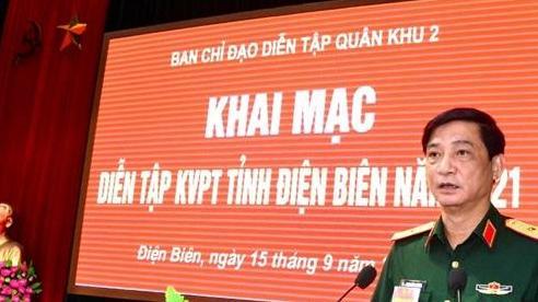 Khai mạc diễn tập khu vực phòng thủ tỉnh Điện Biên năm 2021