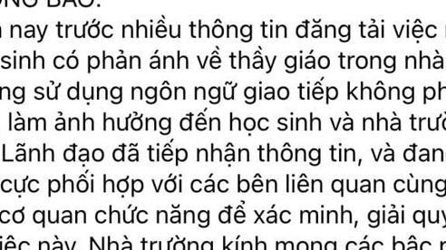 Kết luận chính thức về vụ thầy giáo THPT Cẩm Phả bị tố nhắn tin tán tỉnh nữ sinh