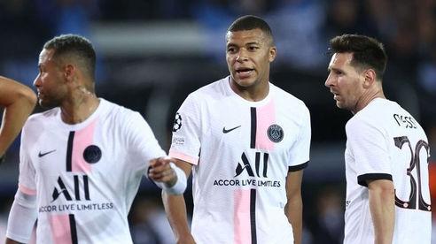 PSG bị đặt dấu hỏi sau trận hòa thất vọng trước Club Brugge