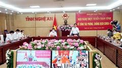 Nghệ An lần đầu tiên tổ chức hội nghị trực tuyến phòng, chống dịch Covid-19 đến cấp xã