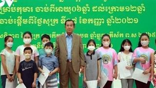 Campuchia bắt đầu tiêm vaccine cho trẻ từ 6 - 11 tuổi