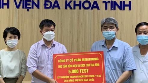Hỗ trợ ngành y tế Thái Bình vật tư, thiết bị chống dịch Covid-19