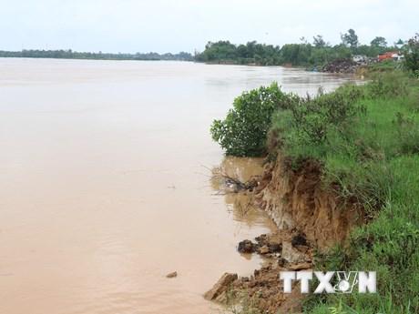 Quảng Trị: Nhiều bờ sông sạt lở nghiêm trọng ngay đầu mùa mưa bão