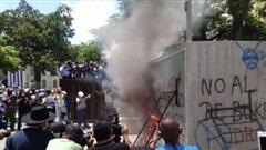 Người dân El Salvador biểu tình phản đối Bitcoin, đốt cây ATM