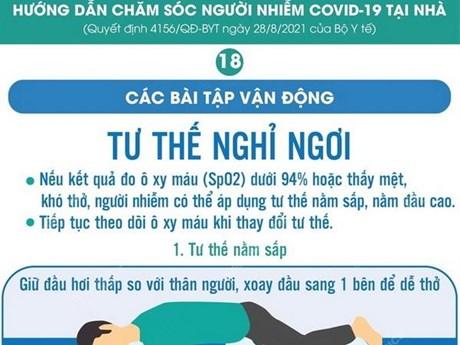 [Infographics] Bài tập vận động khi điều trị COVID-19 tại nhà