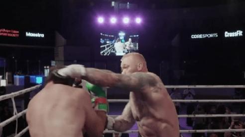 'Thần Thor' thắng áp đảo 'Vua vật tay' trên sàn boxing