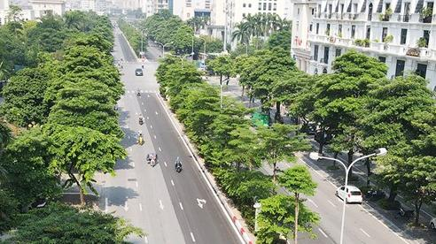 Diện mạo mới của các tuyến đường vừa xén dải phân cách ở Hà Nội