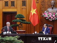 Thủ tướng Phạm Minh Chính tiếp Đại sứ Cộng hòa Pháp tại Việt Nam