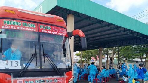 Phú Yên tiếp tục đưa 426 người dân đang sinh sống tại Bà Rịa - Vũng Tàu về quê tránh dịch Covid-19