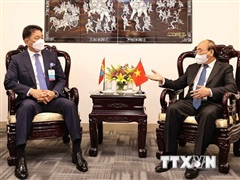 Chủ tịch nước Nguyễn Xuân Phúc tiếp xúc song phương tại New York