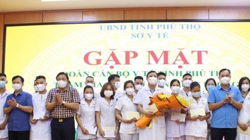 Phú Thọ cử 52 cán bộ y tế hỗ trợ Bình Dương chống dịch