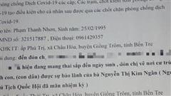 Dùng giấy đi đường giả ghi 'đón con dâu nguyên Chủ tịch Quốc hội'