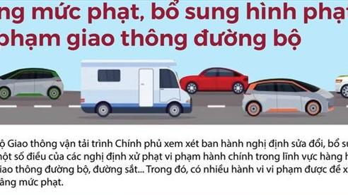 [Infographic] Tăng mức phạt, bổ sung hình phạt vi phạm giao thông đường bộ